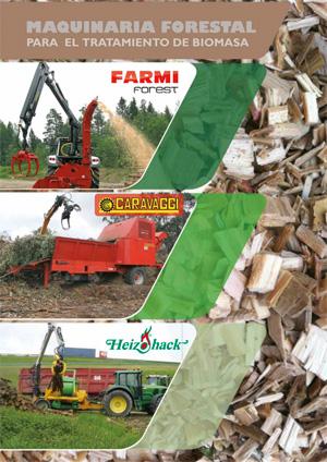 Maquinaria forestal para el tratamiento de biomasa